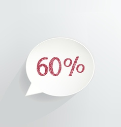 Sixty Percent Discount vector