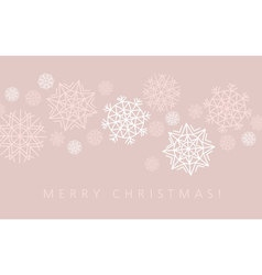 snowflake winter background in gentle feminine vector image