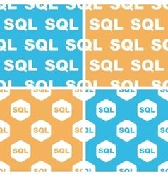 SQL pattern set colored vector image