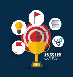 success concept winner card vector image