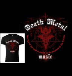 T-shirt design death metal vector