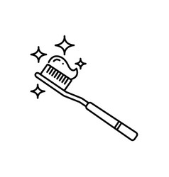 Tooth brush vector
