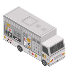 unhealthy food truck icon isometric style vector image