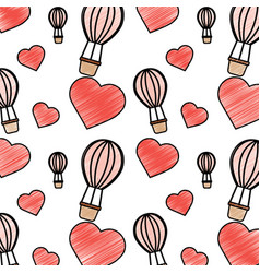 Valentines day pattern image vector