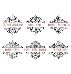 Vintage floral frames dividers and borders vector image