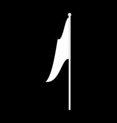 white flag isolated symbol of defeat vector image