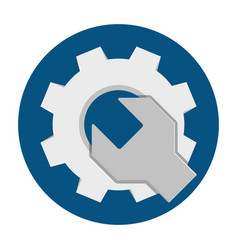 wrench gear flat icon vector image