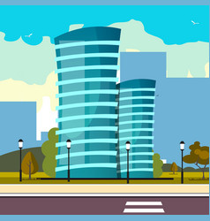 modern big hight skyscrapers town vector image vector image