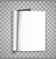 open the paper journal paper journal blank vector image vector image