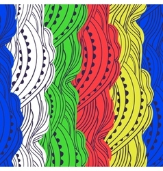 Pattern Color Waves vector image vector image