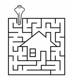 real estate maze vector image vector image