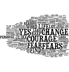 The courage to say yes text background word cloud vector