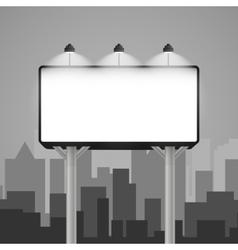 billboard mockup in the city vector image