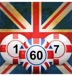 British Bingo Balls vector image vector image