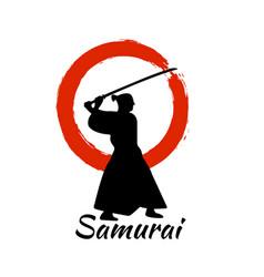 japanese samurai warriors silhouette vector image vector image
