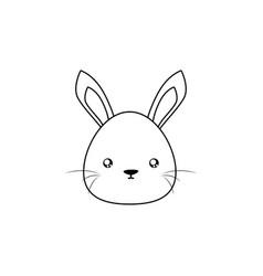 rabbit drawing face vector image