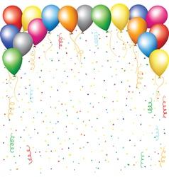 balloons confetti and serpantine vector image vector image