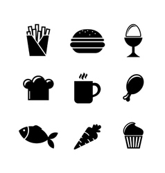 Collection of food icons vector image