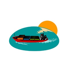 Container Ship Cargo Boat vector image