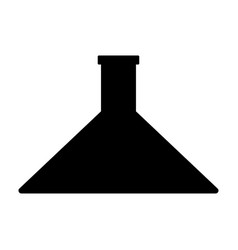 flask the black color icon vector image