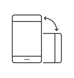 phone rotate line icon vector image vector image