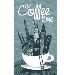 travel coffee vector image