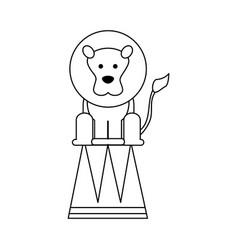 circus lion icon vector image