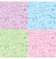 hand drawn patterns eps 10 vector image vector image