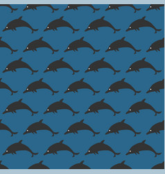 seamless pattern with black silhouettes of vector image