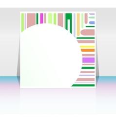 stroke shape frame design elements with blank vector image vector image