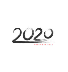 2020 new year hand drawn sign vector image