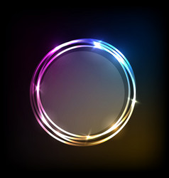 Abstract background with colorful circles banner vector