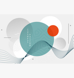 Abstract japanese style geometric wallpaper design vector