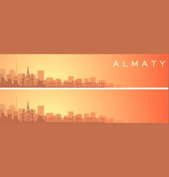 almaty beautiful skyline scenery banner vector image