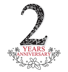 Anniversary Celebration Design vector image