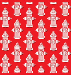 background pattern with fire hydrants vector image