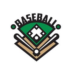 baseball sport logo template design element vector image