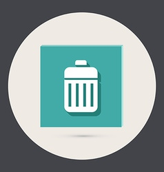basket garbage vector image