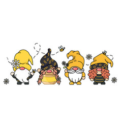 Bee gnomes concept vector