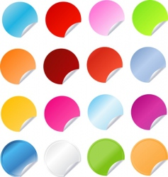 big set of round stickers vector image