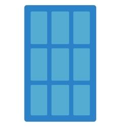 Blue solar panel vector image