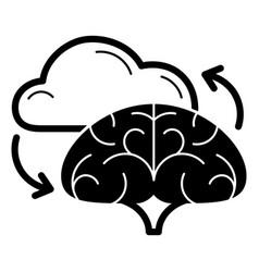 brain cloud idea icon simple style vector image