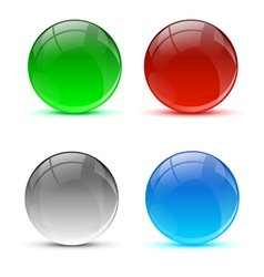 Bright colorful icon balls vector