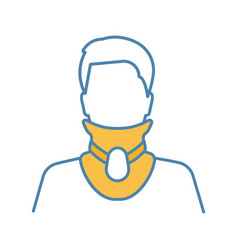 Cervical collar color icon vector