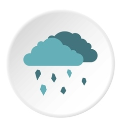 Clouds and hail icon flat style vector