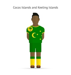 Cocos and Keeling Islands football player Soccer vector