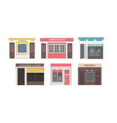 collection of shops vector image
