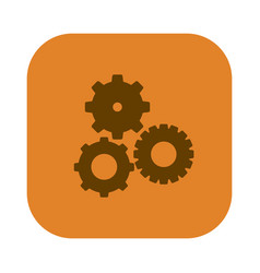 Color square with pinions set icon vector
