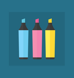 Colored engineering office marker vector