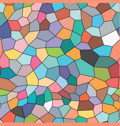 colorful seamless background on mosaic style vector image